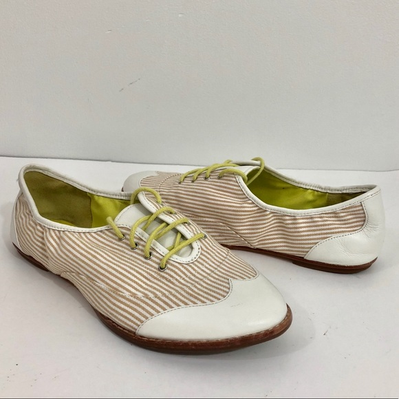 Cole Haan NWOT Wing Tip Striped 20s Flapper 6.5 NWT